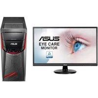 PC Gamer - ASUS G11DF-FR163T - Ryzen 5 - RAM 8Go - 128Go SSD + 1To HDD - GTX1050 + Ecran VA249HE - 23,8 FHD - VA - 5ms