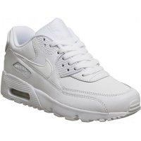 Nike Air Max 90 Gs WHITE MONO LEATHER