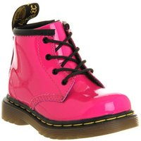 Dr. Martens Lace boots Inside Zip Brooklee (k) HOT PINK PATENT