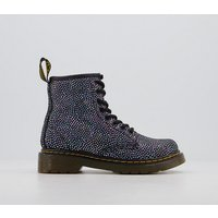 Dr. Martens Lace Boot Inside Zip Delaney (jnr) IREDESCENT BLACK SPOT METALLIC SUEDE