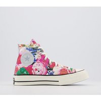 Converse All Star Hi 70s Trainers PINK GRAVEL EGRET FLORAL