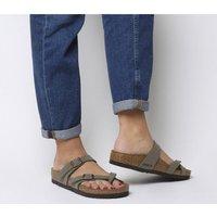 Birkenstock Mayari Cross Strap Sandal STONE