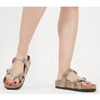 Birkenstock Mayari Cross Strap Sandal GRACEFUL TAUPE