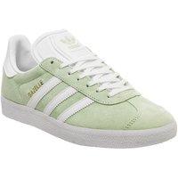 adidas Gazelle GLOW GREEN WHITE GOLD METALLIC F