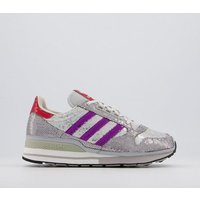 adidas Zx 500 Trainers GREY PURPLE RED SEQUIN
