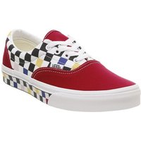Vans Era MULTI CHECKERBOARD RACING RED TRUE WHITE