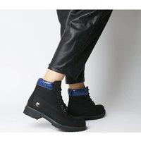 shop for Timberland Slim Premium 6 Inch Boot BLACK ROYAL SNAKE COLLAR at Shopo