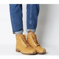 Timberland Slim Premium 6 Inch Boot WHEAT GOLD RAND