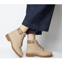 shop for Timberland Slim Premium 6 Inch Boot CREAM SNAKE COLLAR at Shopo