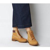 shop for Timberland Slim Premium 6 Inch Boot WHEAT STRIPE COLLAR at Shopo