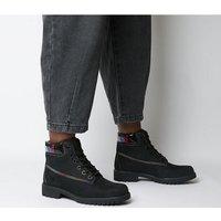 shop for Timberland Slim Premium 6 Inch Boot BLACK RAINBOW COLLAR at Shopo
