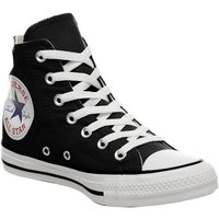 Converse All Star Hi BLACK WHITE OVER SIZED LOGO