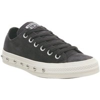 Converse All Star Low ALMOST BLACK WHITE STUD EXCLUSIVE