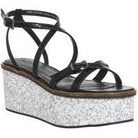 shop for Office Malmo Skinny Strap Platform Sandal BLACK at Shopo