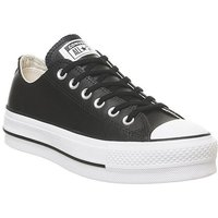 Converse All Star Low Platform BLACK WHITE LEATHER