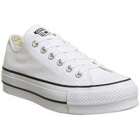 Converse All Star Low Platform WHITE BLACK