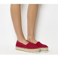 Gaimo for OFFICE Silencio Wedge Espadrille RED SUEDE