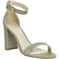shop for Office Nina Block Heel Sandal CHAMPAGNE LUREX at Shopo