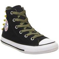 Converse All Star Hi Mid Sizes BLACK DINO