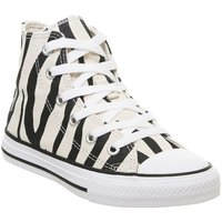 Converse All Star Hi Mid Sizes BLACK GREIGE ZEBRA