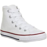 Converse All Star Hi Mid Sizes OPTICAL WHITE