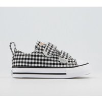 Converse All Star 2vlace Trainers BLACK WHITE BLACK GINGHAM