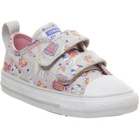 Converse All Star 2vlace MOUSE GREY COASTAL PINK LLAMA