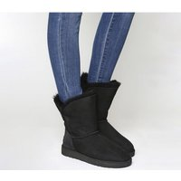 shop for UGG Bailey Button II Boots BLACK SUEDE at Shopo