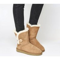 shop for UGG Bailey Button II Boots CHESTNUT SUEDE at Shopo