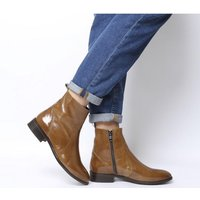 Office Ashleigh Flat Ankle Boots NEW TAN LEATHER