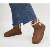 UGG Mini Bailey Button II CHESTNUT SUEDE 2697445086