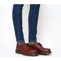 'Dr. Martens 3 Eyelet Shoe Cherry Red