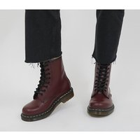 Dr. Martens 8 Eyelet Lace Up boots CHERRY RED
