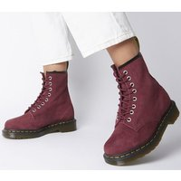 shop for Dr. Martens 8 Eyelet Lace Up Bt WINE SOFT BUCK at Shopo