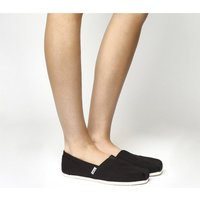 shop for Toms Classic Slip On BLACK CANVAS at Shopo