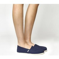 shop for Toms Classic Slip On NAVY CANVAS at Shopo