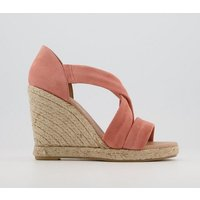 shop for Office Holiday Cross Front Espadrille Wedges PEACH SUEDE at Shopo