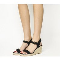 Office Marbs Two Part Espadrille BLACK