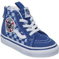 Vans Sk8 Hi Zip Toddler BLUE TRUE WHITE SHARK WEEK