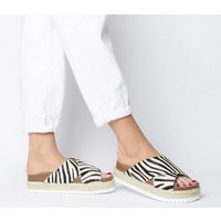 Office Mexico Cross Strap Footbed ZEBRA PONY EFFECT