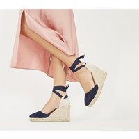 shop for Gaimo for OFFICE Ankle Wrap NAVY SUEDE at Shopo