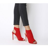 Office Highgate Stretch Knit Boot RED KNIT