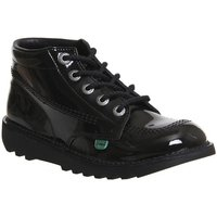 Kickers Kick Hi Junior BLACK PATENT