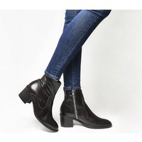 shop for Office Albury- Unlined Block Heel Boot CHOCOLATE LEATHER at Shopo