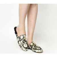 shop for Ted Baker Kerriy Mule BLACK ORNATE PAISLEY TEXTILE at Shopo