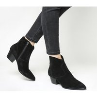shop for Ash Heidi Bis Ankle Boot BLACK SOFT SUEDE at Shopo