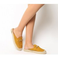 shop for Kanna Dora Mule YELLOW SUEDE at Shopo