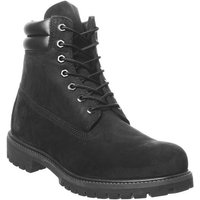 Timberland 6 Inch Double Collar BLACK NUBUCK