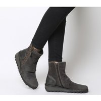 shop for Fly London Mon Zip Boot DIESEL SUEDE at Shopo