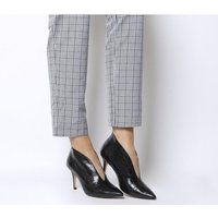 Office Me Too V Front Shoe Boot BLACK CROC LEATHER